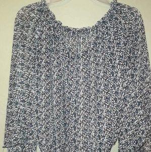Sheer Long sleeve dress top size Medium by Rachael